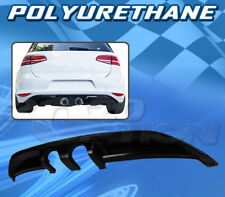 FOR VOLKSWAGEN 15-16 GOLF 7 T-B STYLE REAR DIFFUSER CENTER EXHAUST CONVERSION PU