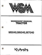 Kubota M5040 M6040 M7040 M7040SU Tractor Workshop Service Manual 9Y011-13748