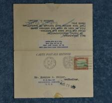 1957 Postal Response Card - Used New Zealand / Niue