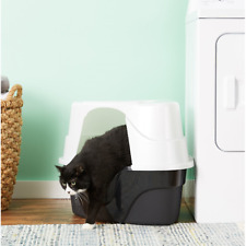 Large Hooded Cat Kitten Training Litter Box Enclosed With order Control Nonstick