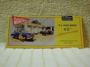 """Trax A5 Flyer  """"Set Of 3 FJ Holden's 40'th Anniversary Commemorative Gift Set""""."""