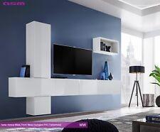 Anbauwand Wohnwand Wohnzimmer Schrankwand Blox VI WW HOCHGLANZ PVC Push - Click