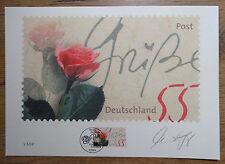 Bund 2317 Briefmarken Grafik Philartes Motiv Rose aus 2003 m. Zertifikat + Signi