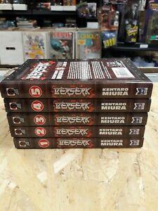 Berserk manga lot Volumes 1-5 dark horse