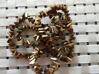 Perles facettes triangles confection bijoux loisirs créatif
