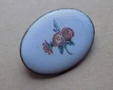 Vintage Bisutería Joyería Esmalte Pintado Flores Broche 3 Cm