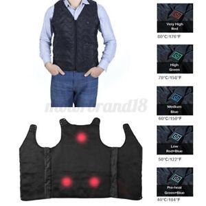 USB Men Smart Electric Heated Adjustable Sleeveless Vest Jacket Wind   NEW
