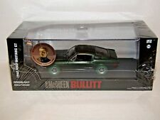 GREENLIGHT STEVE MCQUEEN FORD MUSTANG BULLITT WITH FIGURE 1/43 CHASE GREEN TYRES