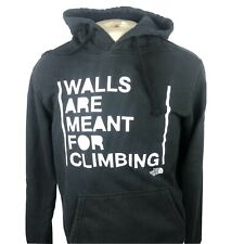 """The North Face Mens Walls Are Meant For Climbing Hoodie Sweatshirt Medium """"Y"""""""