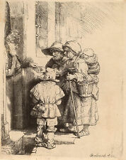 Rembrandt Etching Reproductions: 3 Scenes of Daily Life: Art Prints