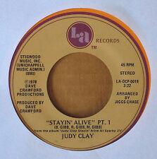 JUDY CLAY - STAYIN' ALIVE PT. 1 & 2 - LA LABEL - 1978 45