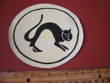 WWII LUFTWAFFE JAGDGESCHWADER 8/JG 51 BLACK CAT  FLIGHT JACKET PATCH