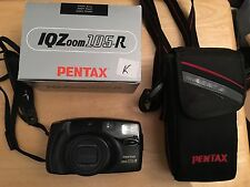 Pentax IQZoom 105-R 35 MM Camera With Box/instructions Case