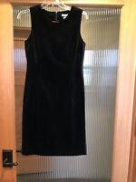 Tommy Hilfiger Womens Black Velvet Party Cocktail Sheath Dress Size 4 Gorgeous