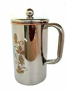 COPURE Water Pitcher Copper Jug Outside Stainless Steel Utensils Inside Copper