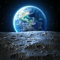Moon Earth Space Galaxy Universe Home Decor Wall Art Poster & Canvas Pictures