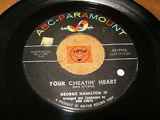 GEORGE HAMILTON IV - YOUR CHEATIN HEART - WHEN WILL I - LISTEN - ROCK N ROLL