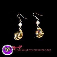 """JJ"" Jonette Jewelry 'Mystical Hands Holding Crystal' Earrings Artifacts Vintage"