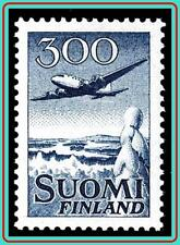 FINLAND 1954 AIRMAIL / PLANE DC-6 SC#C4 CV.$32.50 AVIATION