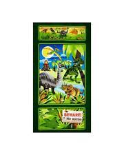 Giordano Dino-Might Cotton Quilt Fabric Panel Dinosaur  BFab