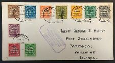 Philippines #C36-45 Complete Set on 1933 1st Day Cover