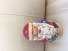 Russian Christmas Gift Matreshka- Doll Hand Painted Santa Claus 5 ps