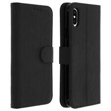 Housse Apple iPhone XS Max Etui Clapet Porte-carte Fonction Support Vidéo Noir