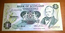 BANK OF SCOTLAND £ 1 una sterlina BANCONOTA 1984 P111f Menta-BU