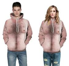 New Hairy Chest 3D Print Men's/Women's Sweatshirt Hoodie Pullover tops Jumper