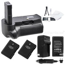 Battery Grip for Nikon D5600 + 2x EN-EL14 Battery + AC/DC Charger + Kit