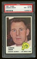 1961 Fleer #105 Lindon Crow Rams PSA 8