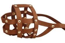 New ListingGenuine Leather Dog Basket Muzzle #105 Brown - Pit Bull, Amstaff (Circumference