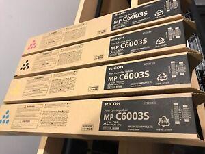 Genuine Ricoh MP C6003s SET OF 4 841865-841868 Toner Set CMYK