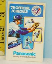 1979 Toronto Blue Jay's Baseball Schedule Panasonic Sponsor