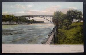 Postcard Chicago Ill. Union Park Lagoon and Bridge