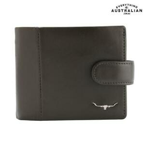 RM Williams Wallet With Coin Pocket & Tab - Brown