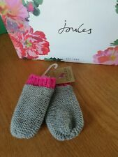 'Joules' baby girl Grey/Pink Mittens12-24 months BNWT
