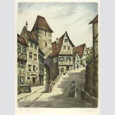 Adrianus van Zeegen: Wimpfen am Neckar. Kolorierte Radierung.