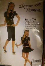 New sassy cat kitten  6pc juniors costume size m/l  by elegant moments