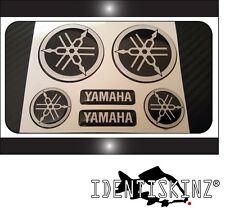 Cúpula Yamaha Moto roundal Calcomanía Pegatinas Negro/Blanco Kit Completo tenedores/Tanque