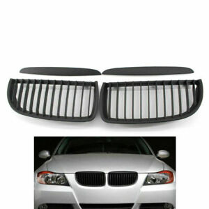 Matte Black Racing Grille Front Center Wide Hood Grille for BMW E90 E91 05-08
