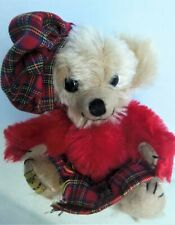 "Merrythought 6"" Cheeky Highlander Scottish Mohair Bear, Original Box #108/500"