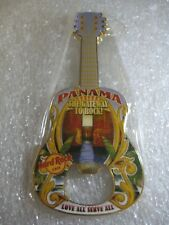 Hard Rock Cafe PANAMA Guitar Bottle Opener Magnet RARE