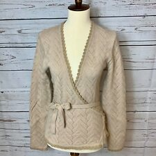 Caramelo Sport Wrap Over Beige Cardigan Size M, runs Small like S, Spain Nwot