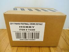 SEALED 2011 Crown Royale Football Hobby 12-Box CASE Lot Boxes Cam Newton, Julio