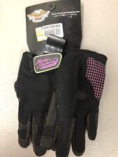 #668 NEW Harley-Davidson women's gloves, black/pink