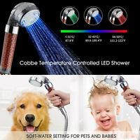 LED Handheld 7 Color Changing Light Water Bath Home Bathroom Glow Shower Head