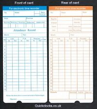 Tarjetas de tiempo mensual/tarjetas de reloj de temporización/Para Electrónica grabador de tiempo (x200)