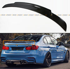 For 2015-18 BMW F80 M3 & 12-18 F30 Highkick Extended Carbon Fiber Trunk Spoiler