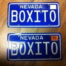 2006 NEVADA Pair of Vanity License Plates (BOXITO)